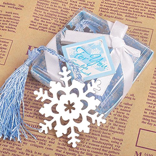 Book Lovers Collection Metal Snowflake Bookmark Favors (24)