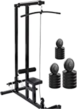 FITNESS HUB LAT Pull Down Machine with 30 Kg Rubber Weight for Home Gym Exercise
