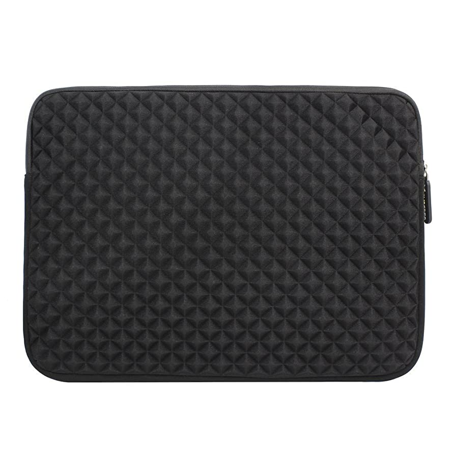 12.9-13.3 Inch Laptop/Tablet Sleeve Evecase Diamond Foam Splash Shock Resistant Neoprene Sleeve Bag for for Notebook Chromebook, Ultrabook, MacBook Pro/Air 13.3 / iPad Pro 12.9 Tablet - Black