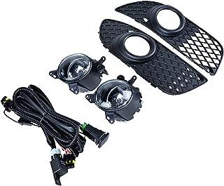 Compatible with 08-14 Mitsubishi Lancer Sedan 4DR DE ES GTS Black Front Lower Grille + Bumper Fog Light OE Style