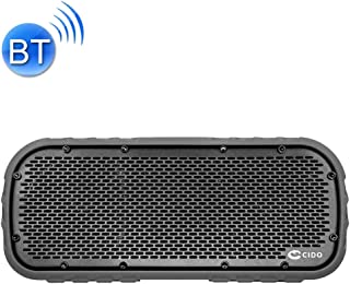 Waterproof Bluetooth Speaker Cido Outdoor Sports Shockproof IPX7 Waterproof Wireless Bluetooth Speaker Loudspeakers(Black) (Color : Grey)