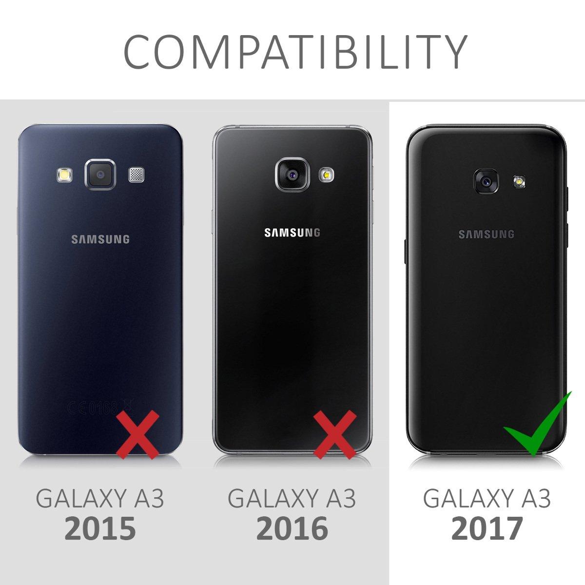 kwmobile Funda Compatible con Samsung Galaxy A3 (2017): Amazon.es ...