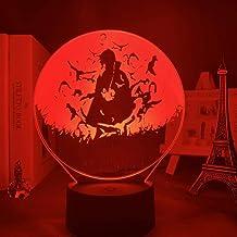 3D Led-nachtlampje Anime Lamp Naruto Sasuke en Itachi Uchiha voor kinderen, slaapkamer, decoratie, nachtlampje, RGB, kleur...