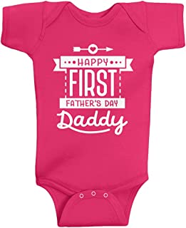 Baby Girls' Happy First Father's Day Daddy Infant Bodysuit