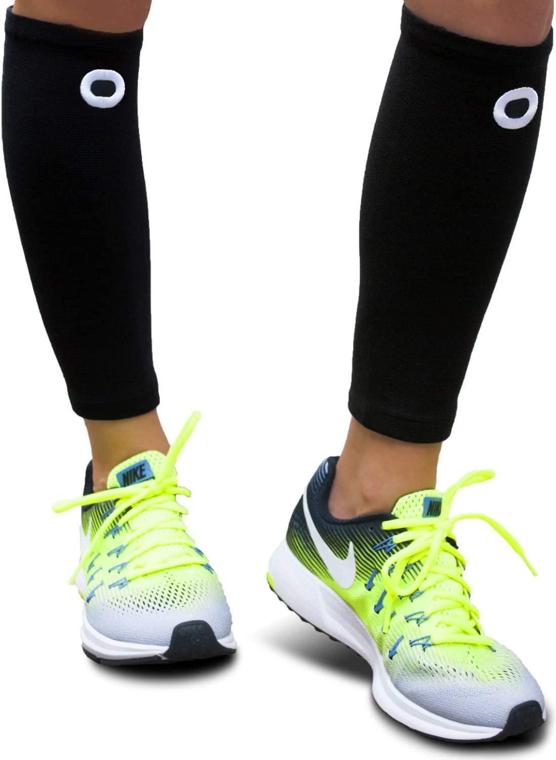 Crucial Compression Calf Sleeves for Men & Women (Pair) - Instant Shin Splint Support, Leg Cramps, Calf Pain Relief, Running, Circulation and Recovery Socks - Premium Compression Sleeve for Calves : Health & Household