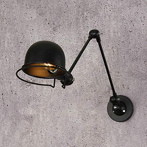 Lámpara de pared lámpara de pared iluminación loft vintage industrial jielde brazo largo ajustable reminisce retráctil e14 luces de pared led para dormitorio sala de estar