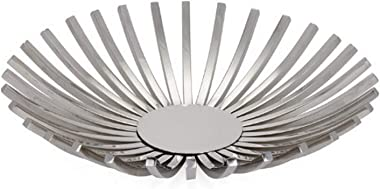 Torre & Tagus Divide Round Platter, Silver