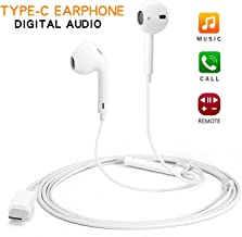 USB C Digital Earbuds Type C Earphones with Microphone Noise Cancelling USB C Headphones with Mic Wired In-Ear Headsets for Google Pixel 3/3XL/2/2XL, Moto, Huawei, OnePlus, HTC, Xiaomi,Essential,Razer