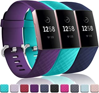 Wepro Waterproof Bands Compatible with Fitbit Charge 3...