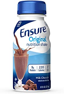 Best Ensure Original Nutrition Shake with 9 grams of protein, Meal Replacement Shakes, Milk Chocolate, 8 fl oz, 24 Count Review