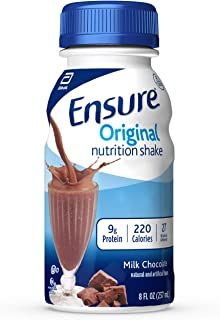 Ensure Original Nutrition Shake with 9 grams of protein, Meal Replacement Shakes, Milk Chocolate, 8 fl oz, 24 Count
