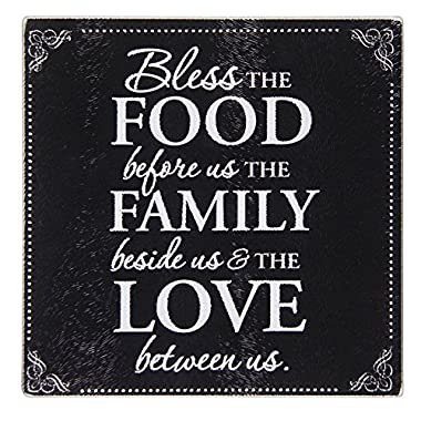 Brownlow Gifts Tempered Glass Cutting Board with Scripture, Bless The Food