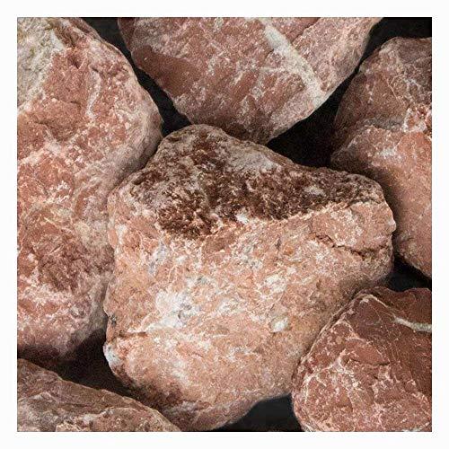 zierkiesundsplitt Marmor Rot Gabionensteine Bruchsteine 1000kg Big Bag 40-80mm