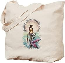 CafePress Enchanted Sea Mermaid Art By Molly Harrison Tote B Natural Canvas Tote Bag, Reusable Shopping Bag