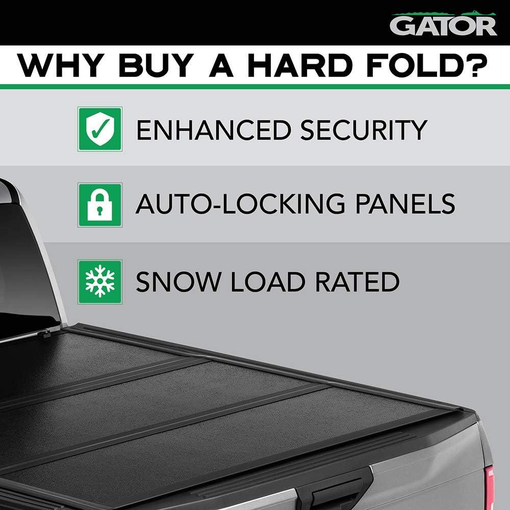 Gator EFX Hard Tri-Fold Truck Bed Tonneau Cover   GC24029   Fits 2021 Ford F-150 5' 7