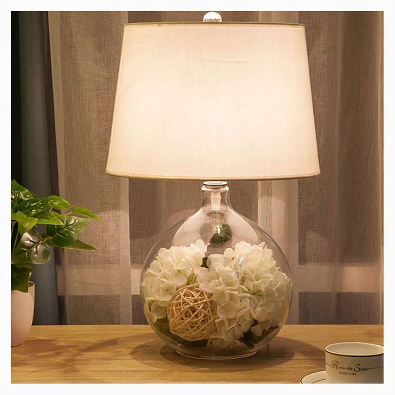 揃える再生矢じりBQZA テーブルランプ、リビングルームファミリーベッドルームベッドサイドテーブル、テーブルランプ、布製サンシェードベッドサイドカウンターランプ、アイプロテクションテーブルランプ、40W (Color : White)