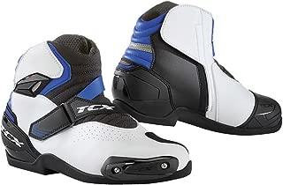 TCX Roadster 2 Air Men's Street Motorcycle Shoes - White/Black/Blue / 42