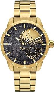 Police Watches neist Mens Analog Quartz Watch with Stainless Steel Bracelet PL.15715JSG-78M