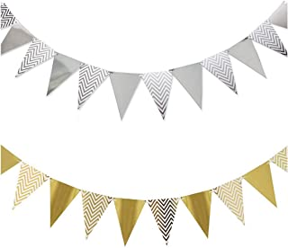 Party Decorations Supply Favors Kit Party Banner Black Gold Set