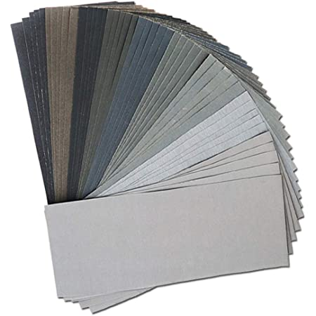 45Pcs Wet Dry Sandpaper, 400/600/ 800/1000/ 1200/1500/ 2000/2500/ 3000 Grit Assorted Sanding Sheets for Automotive Polishing, Metal Sanding, Wood Furniture Finishing, 9 x 3.6 Inch by BAISDY
