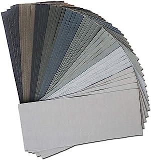 45Pcs Wet Dry Sandpaper, 400/600/ 800/1000/ 1200/1500/ 2000/2500/ 3000 Grit Assorted Sanding Sheets for Automotive Polishi...