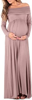 Cowl Neck and Over The Shoulder Maternity Dress