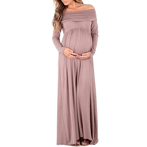 becfdf2e60f1 Womens Cowl Neck and Over The Shoulder Maternity Dress