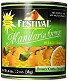 Festival Broken Mandarin Oranges in Light Syrup, 10-Pounds (Pack of 2)