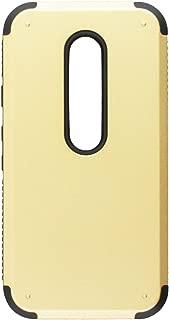Asmyna Cell Phone Case for Motorola Moto G (3rd Gen.) Retail Packaging - Gold