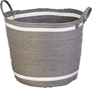 Nfudishpu panier de rangement tissé à la main panier tissé à la main boîte de rangement panier décoratif panier polyvalent...