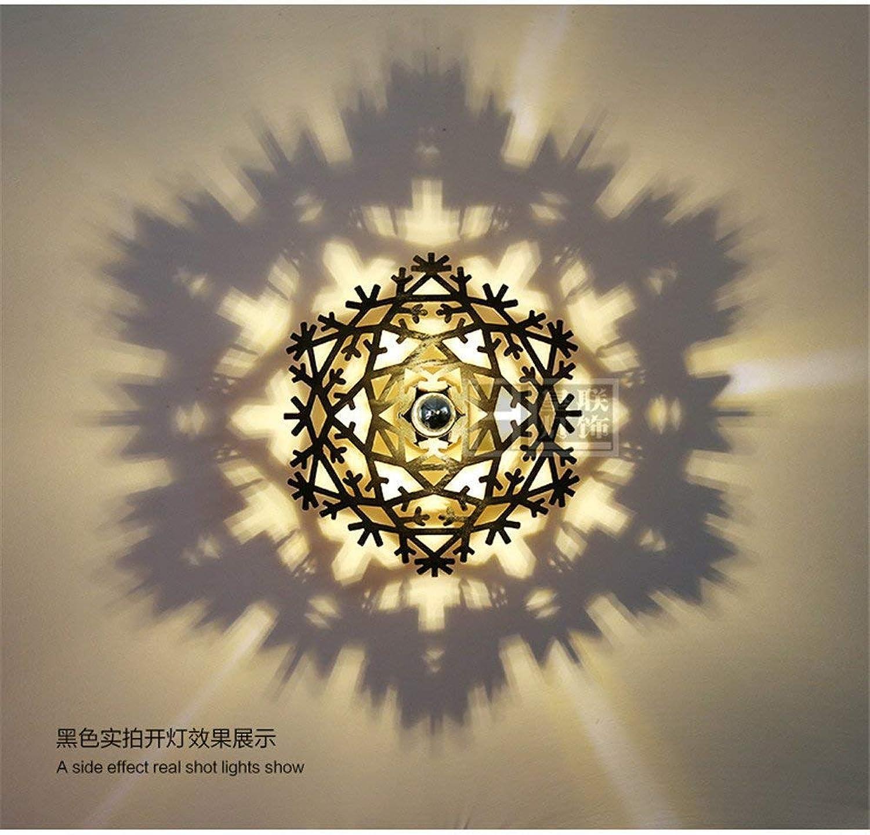 QSM Moderne minimalistische Innenwandleuchte, Wandlampe führte Schlafzimmerwandlampe warme Hotel-Wohnzimmer-Wandlampe Kreative Wandlampe Treppenwandlampe Schneeflocke-Schwarzes (40Cm), Hintergrund-Wa B07HVM4CZ9     | Angemessener Preis