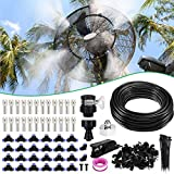 XDDIAS 18m Nebulizzazione per Esterni, Sistema di Irrigazione Refreshing Automatico Kit Nebulizzatore per Ombrellone Gazebo Serra Fan(24 Ugello)