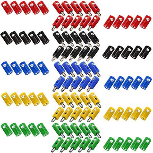 WITTKOWARE Sortiment Zwergstecker/-kupplungen 2,6mm, 100-teilig, 5 Farben