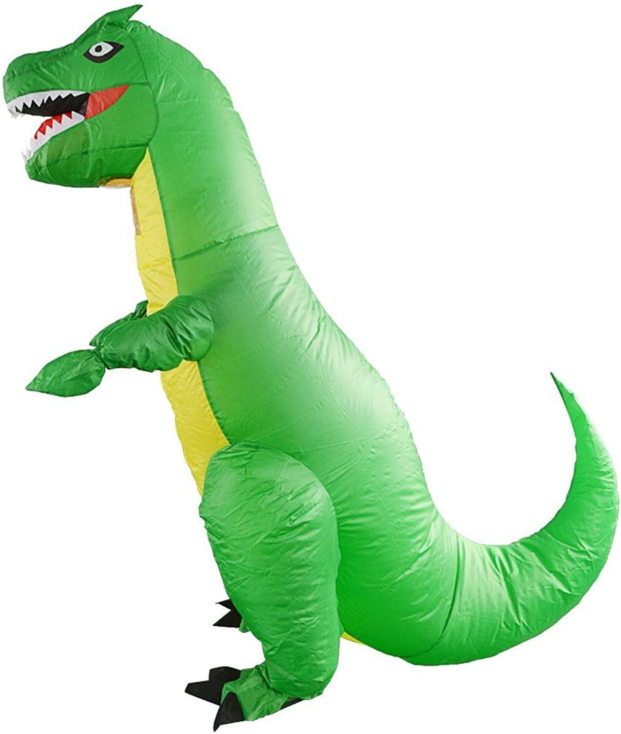 Dolity Fun Animal TREX Inflatable Dinosaur Costume Adult Cosplay Party Dress Green