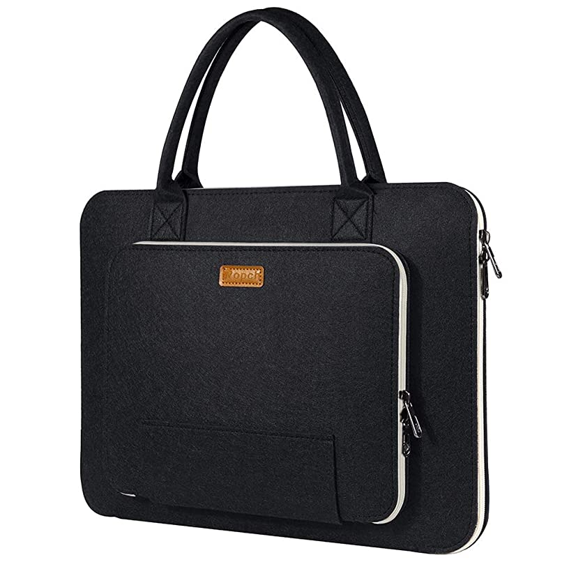 Ropch 15 15.6 Inch Laptop Bag with Handle, Update Felt Laptop Sleeve Case Notebook Carrying Bag Handbag Briefcase Compatible with 15