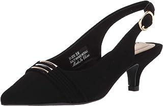 Easy Street womens Dress Pump, Black Suede, 9 Narrow US