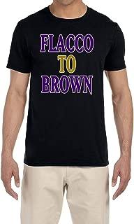 Tobin Clothing Black Baltimore Flacco to Brown T-Shirt