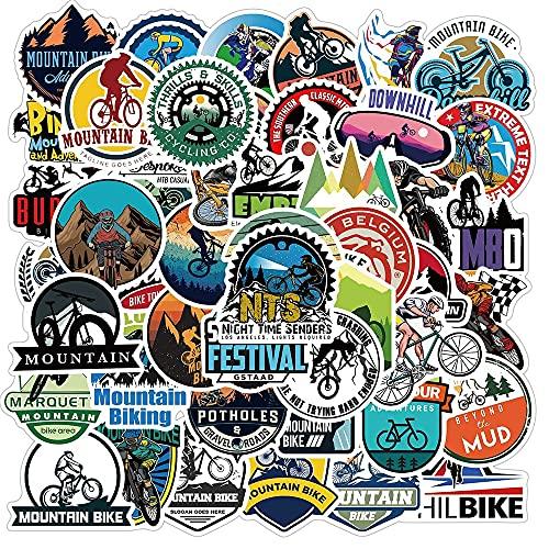 CHUDU Pegatinas de Bicicleta de montaña Impermeables al Aire Libre MTB Pegatina de Bicicleta Genial para DIY portátil Pc teléfono monopatín Equipaje 50 Uds