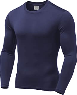 9M Mens Ultra Soft Thermal Shirt - Compression Baselayer Crew Neck Top - Fleece Lined Long Sleeve Underwear