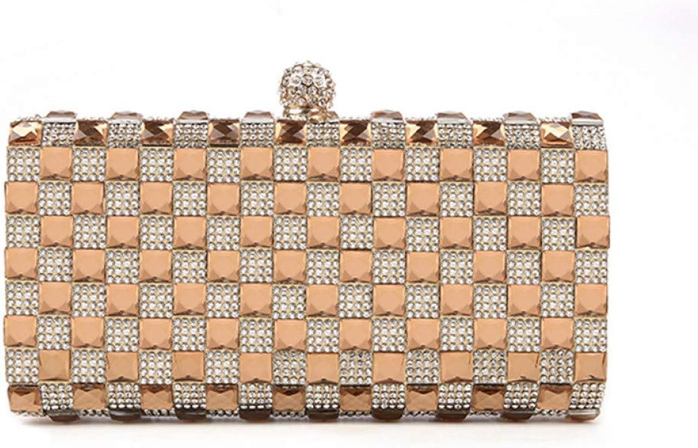 HKDUC Luxus Glas Diamant Abendtaschen Klassische Strass Gold Clutch Bag Hochzeit Braut Geldbörse B07PKN8XF8  Elegantes Aussehen
