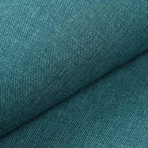 HEKO PANELS Torino Polsterstoff Möbelstoff Meterware - z.B. Stoff für Stühle oder Eckbank Bezug - Petrol