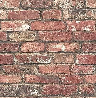 Brewster Wallcovering Co FD23287 Loft Red Brick Wallpaper,