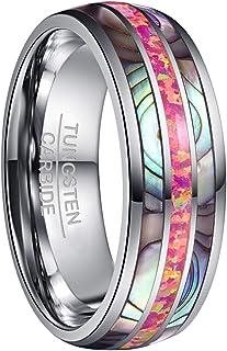 NUNCAD Ring Damen/Herren 8mm Mehrfarbig mit Opal und Muschel