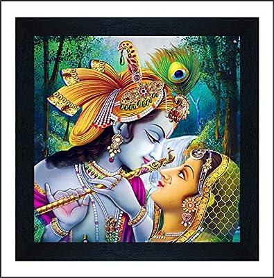 SAF Radha Krishna UV Coated Multi-Effect Digital Reprint Painting 12 inch X 12 inch SANF21060