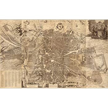Cartel, Mapa Del Mundo Vintage World Maps Poster Madrid Capital De ...