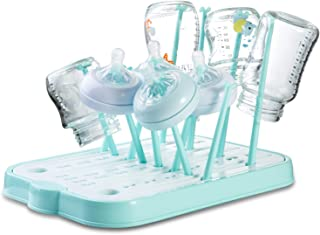 Baby Bottle Drying Rack, Countertop Dryer Rack with Drainer Board for Baby Bottles and Accessories(Blue)