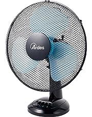 Ardes AR5EA40 Easy 40 Ventilatore da Tavolo Pala 40 cm 3 Livelli di velocità, Total Black, 50 W, Nero
