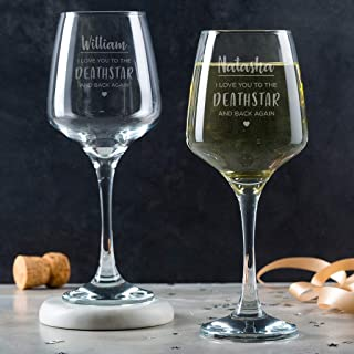Engraved Star Wars Gifts for Men - Personalized Star Wars Gifts - Star Wars Glass Gift for Dad - Star Wars Gifts for Women - Dad Drinking Gifts for Daddy - Wine Gifts for Men or Women