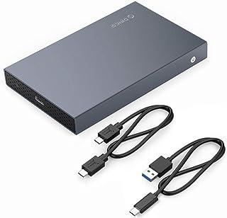 ORICO Caja USB-C USB 3.1 (10Gbps) de Aluminio para Disco Duro o SSD SATA de 2,5 Pulgadas - con Cable USB C a C y USB C a A