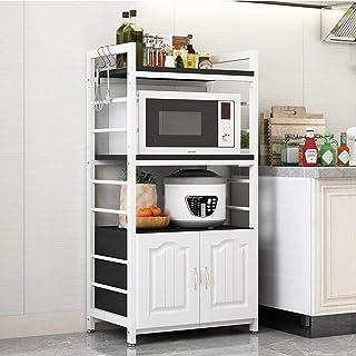 GUXJ égouttoir Vaisselle la Cuisine Multifonctions Étagère étage Micro-Ondes Rack avec Porte de l'armoire Multi-Couche fou...
